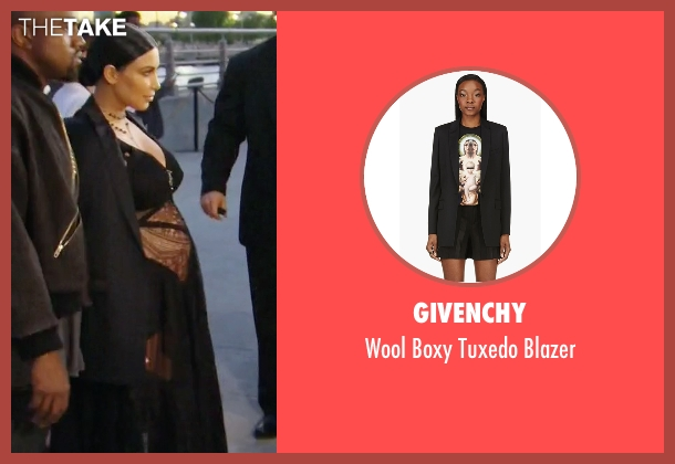 Givenchy black blazer from Keeping Up With The Kardashians seen with Kim Kardashian West