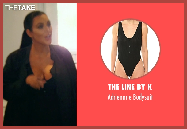 The Line By K black bodysuit from Keeping Up With The Kardashians seen with Kim Kardashian West