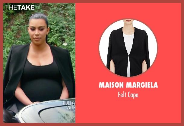 Kim kardashian west 39 s black maison margiela felt cape from for 1st season of keeping up with the kardashians