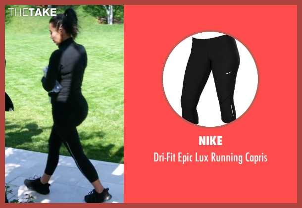 Nike black capris from Keeping Up With The Kardashians seen with Kim Kardashian West