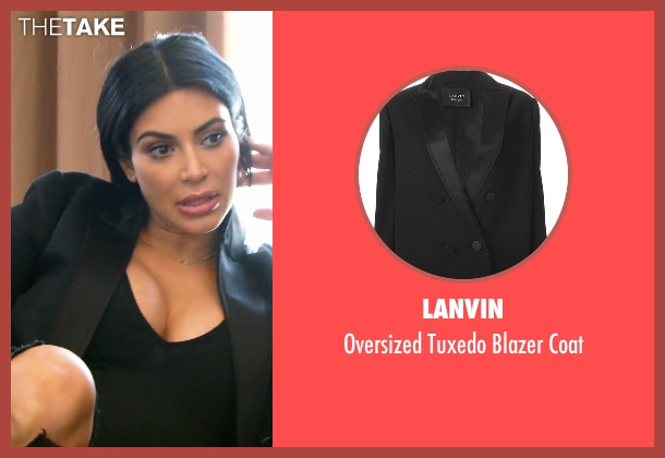 Lanvin black coat from Keeping Up With The Kardashians seen with Kim Kardashian West