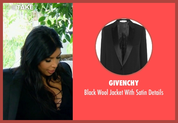 Givenchy black details from Keeping Up With The Kardashians seen with Kim Kardashian West