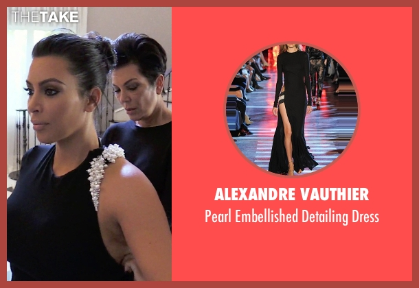 Alexandre Vauthier black dress from Keeping Up With The Kardashians seen with Kim Kardashian West