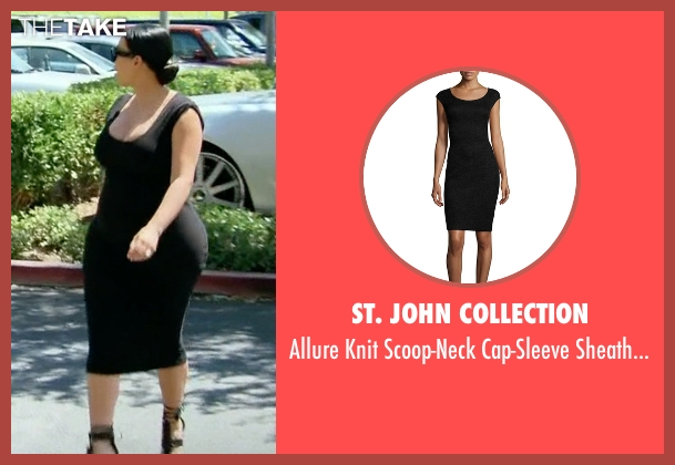 St. John Collection black dress from Keeping Up With The Kardashians seen with Kim Kardashian West