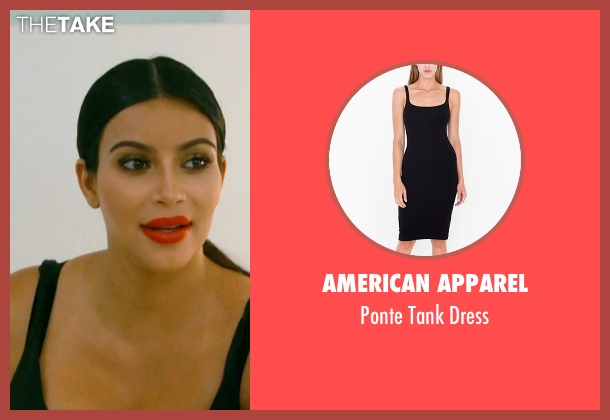 American Apparel black dress from Keeping Up With The Kardashians seen with Kim Kardashian West