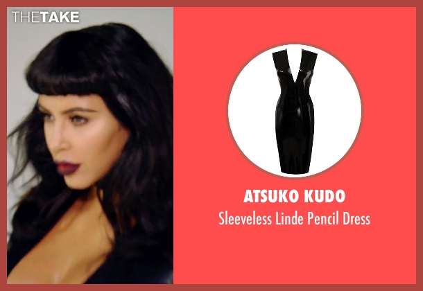 Atsuko Kudo black dress from Keeping Up With The Kardashians seen with Kim Kardashian West