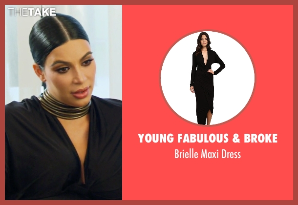 Young Fabulous & Broke black dress from Keeping Up With The Kardashians seen with Kim Kardashian West