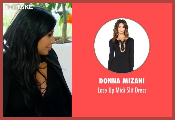 Donna Mizani black dress from Keeping Up With The Kardashians seen with Kim Kardashian West