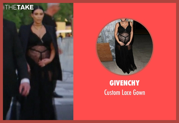 Givenchy black gown from Keeping Up With The Kardashians seen with Kim Kardashian West