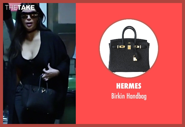 Hermes black handbag from Keeping Up With The Kardashians seen with Kim Kardashian West