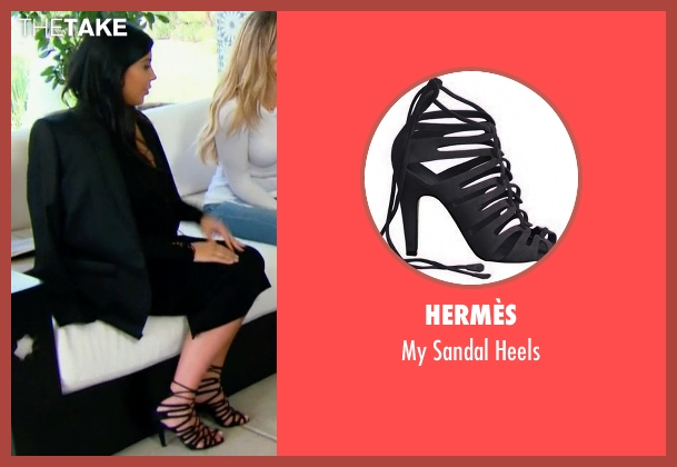Hermès black heels from Keeping Up With The Kardashians seen with Kim Kardashian West