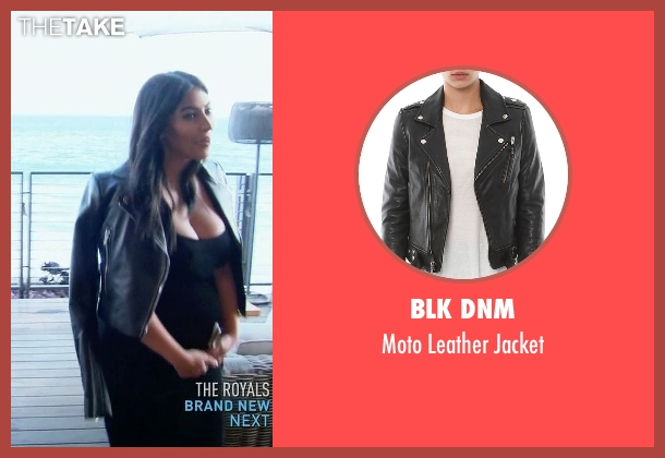 BLK DNM  black jacket from Keeping Up With The Kardashians seen with Kim Kardashian West