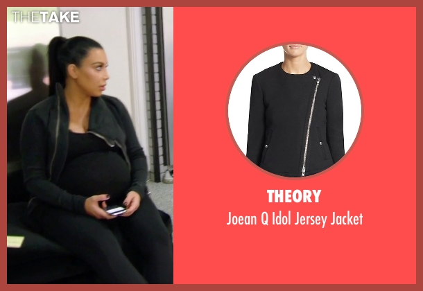 Theory black jacket from Keeping Up With The Kardashians seen with Kim Kardashian West