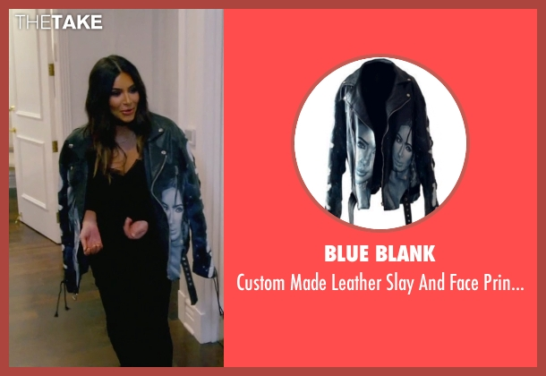 Blue Blank black jacket from Keeping Up With The Kardashians seen with Kim Kardashian West