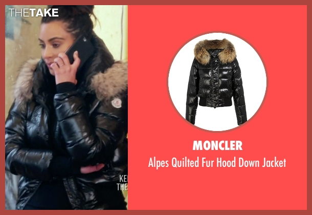 Moncler black jacket from Keeping Up With The Kardashians seen with Kim Kardashian West