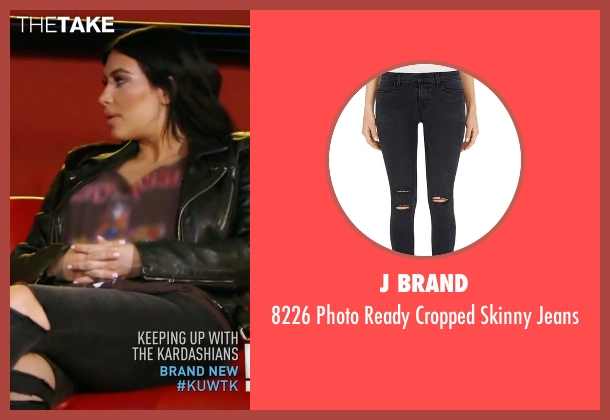 J Brand black jeans from Keeping Up With The Kardashians seen with Kim Kardashian West