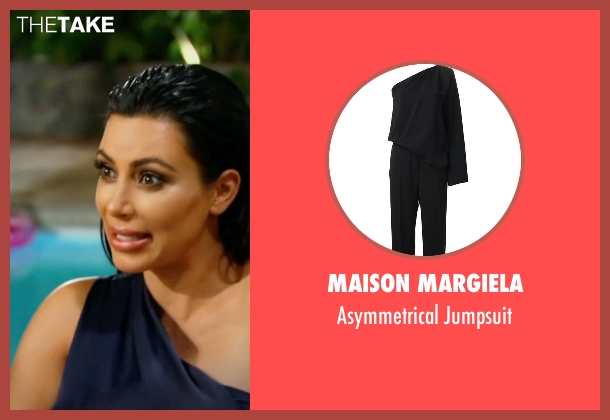 Maison Margiela  black jumpsuit from Keeping Up With The Kardashians seen with Kim Kardashian West