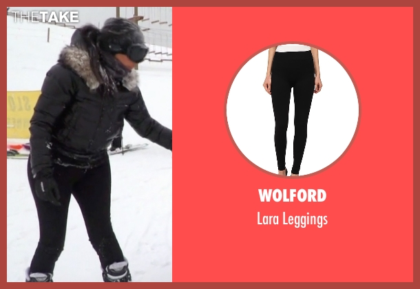 Wolford  black leggings from Keeping Up With The Kardashians seen with Kim Kardashian West