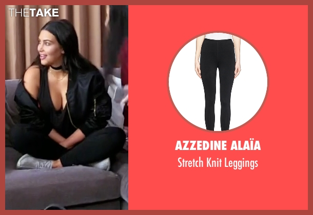Azzedine Alaïa black leggings from Keeping Up With The Kardashians seen with Kim Kardashian West