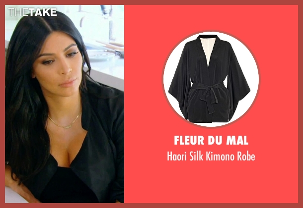 Fleur Du Mal black robe from Keeping Up With The Kardashians seen with Kim Kardashian West