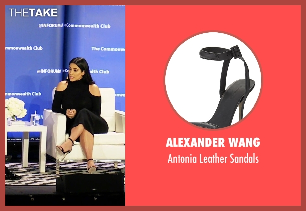 Alexander Wang black sandals from Keeping Up With The Kardashians seen with Kim Kardashian West
