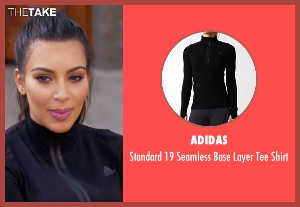 Adidas black shirt from Keeping Up With The Kardashians seen with Kim Kardashian West