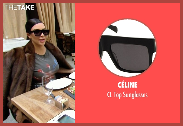 celine tote price - Kim Kardashian West's Black C��line CL Top Sunglasses from Keeping ...