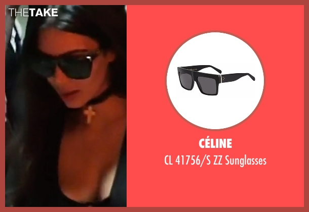 Céline black sunglasses from Keeping Up With The Kardashians seen with Kim Kardashian West