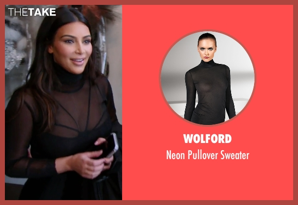 Wolford black sweater from Keeping Up With The Kardashians seen with Kim Kardashian West