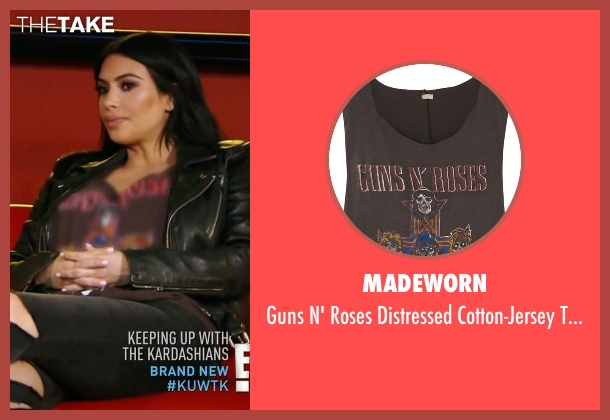 MadeWorn black top from Keeping Up With The Kardashians seen with Kim Kardashian West