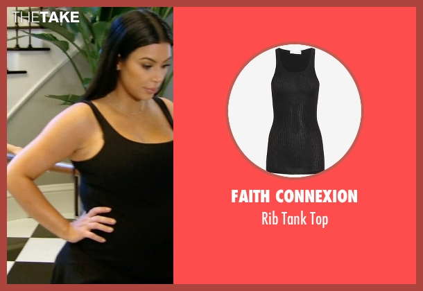 Faith Connexion black top from Keeping Up With The Kardashians seen with Kim Kardashian West