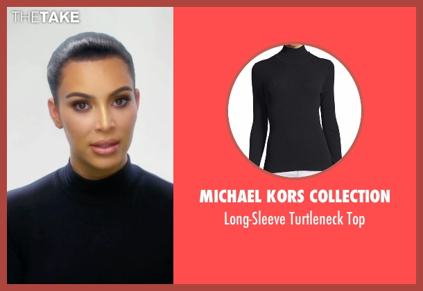 Michael Kors Collection black top from Keeping Up With The Kardashians seen with Kim Kardashian West