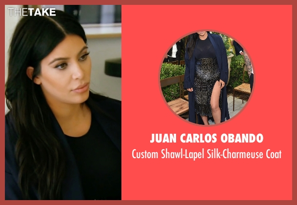 Juan Carlos Obando  blue coat from Keeping Up With The Kardashians seen with Kim Kardashian West