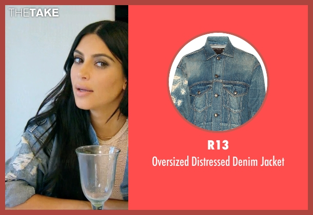 R13 blue jacket from Keeping Up With The Kardashians seen with Kim Kardashian West