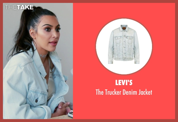 Levi's blue jacket from Keeping Up With The Kardashians seen with Kim Kardashian West