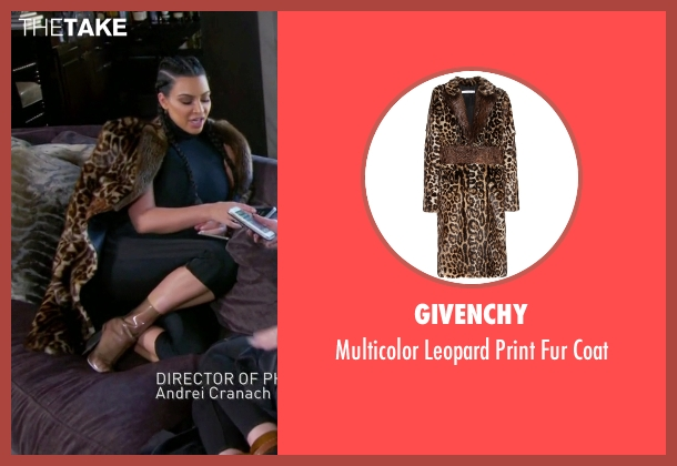 Givenchy brown coat from Keeping Up With The Kardashians seen with Kim Kardashian West