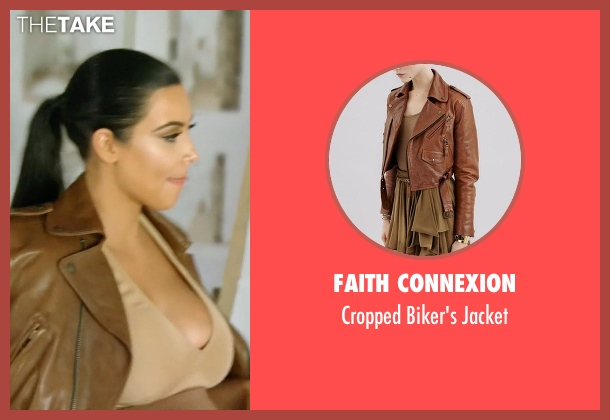 Faith Connexion brown jacket from Keeping Up With The Kardashians seen with Kim Kardashian West