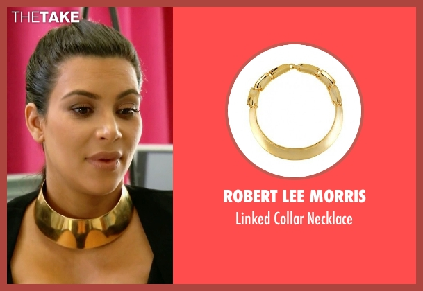 Robert Lee Morris gold necklace from Keeping Up With The Kardashians seen with Kim Kardashian West