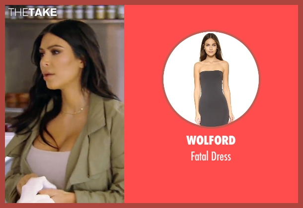 Wolford gray dress from Keeping Up With The Kardashians seen with Kim Kardashian West