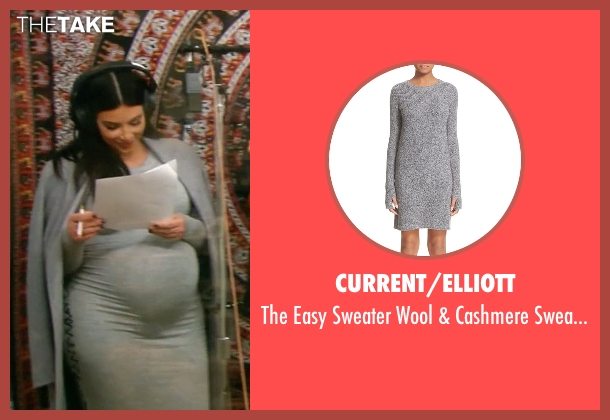 Current/Elliott gray dress from Keeping Up With The Kardashians seen with Kim Kardashian West