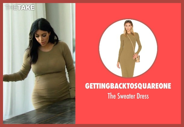 Gettingbacktosquareone green dress from Keeping Up With The Kardashians seen with Kim Kardashian West