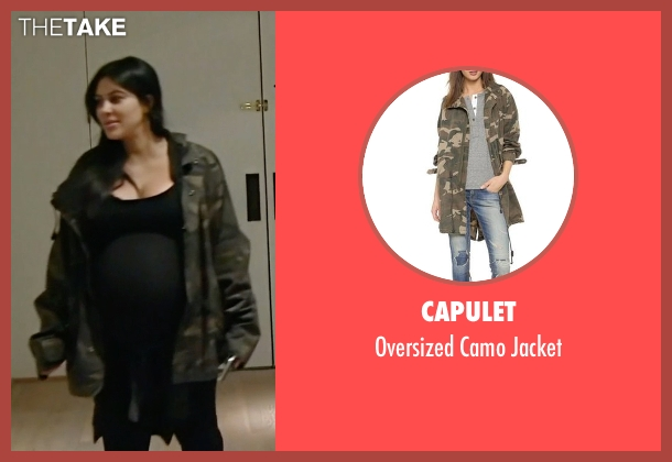 Capulet green jacket from Keeping Up With The Kardashians seen with Kim Kardashian West