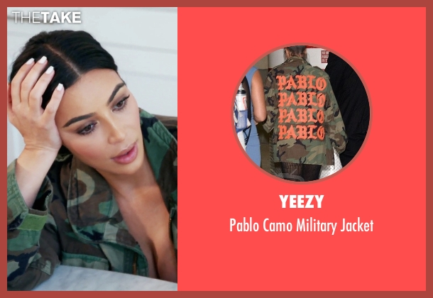 Yeezy green jacket from Keeping Up With The Kardashians seen with Kim Kardashian West