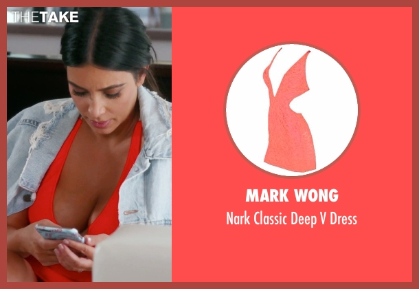 Mark Wong orange dress from Keeping Up With The Kardashians seen with Kim Kardashian West