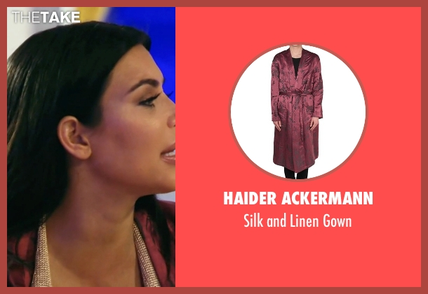 Haider Ackermann red gown from Keeping Up With The Kardashians seen with Kim Kardashian West