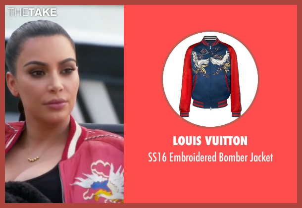 Louis Vuitton red jacket from Keeping Up With The Kardashians seen with Kim Kardashian West
