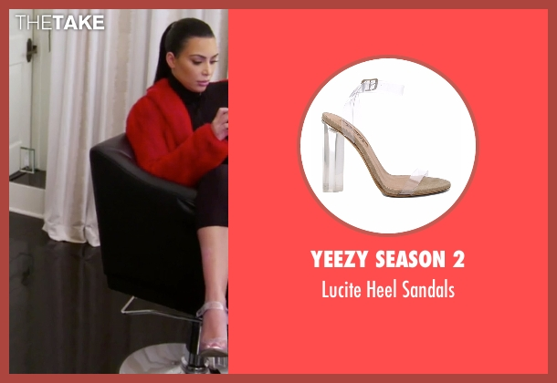 Yeezy Season 2 sandals from Keeping Up With The Kardashians seen with Kim Kardashian West