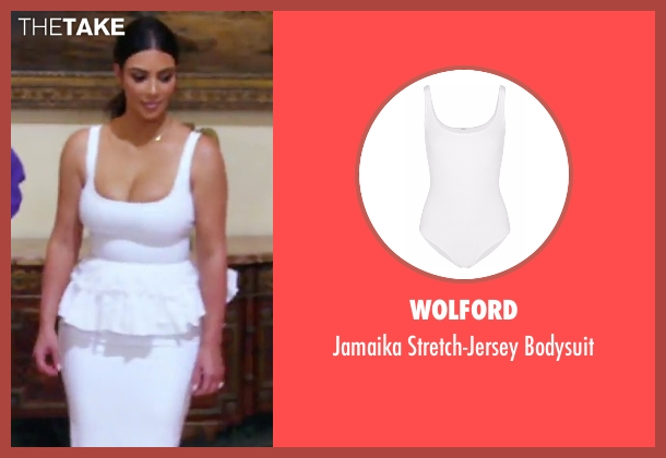 Wolford white bodysuit from Keeping Up With The Kardashians seen with Kim Kardashian West
