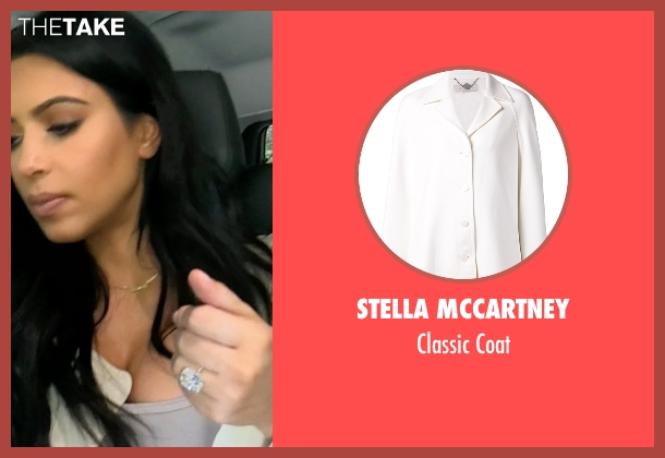 Stella Mccartney white coat from Keeping Up With The Kardashians seen with Kim Kardashian West