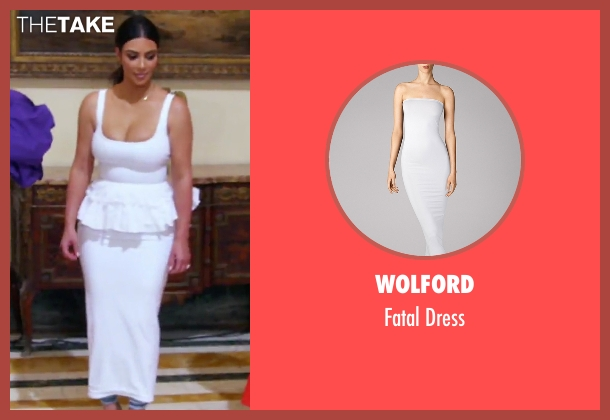 Wolford white dress from Keeping Up With The Kardashians seen with Kim Kardashian West